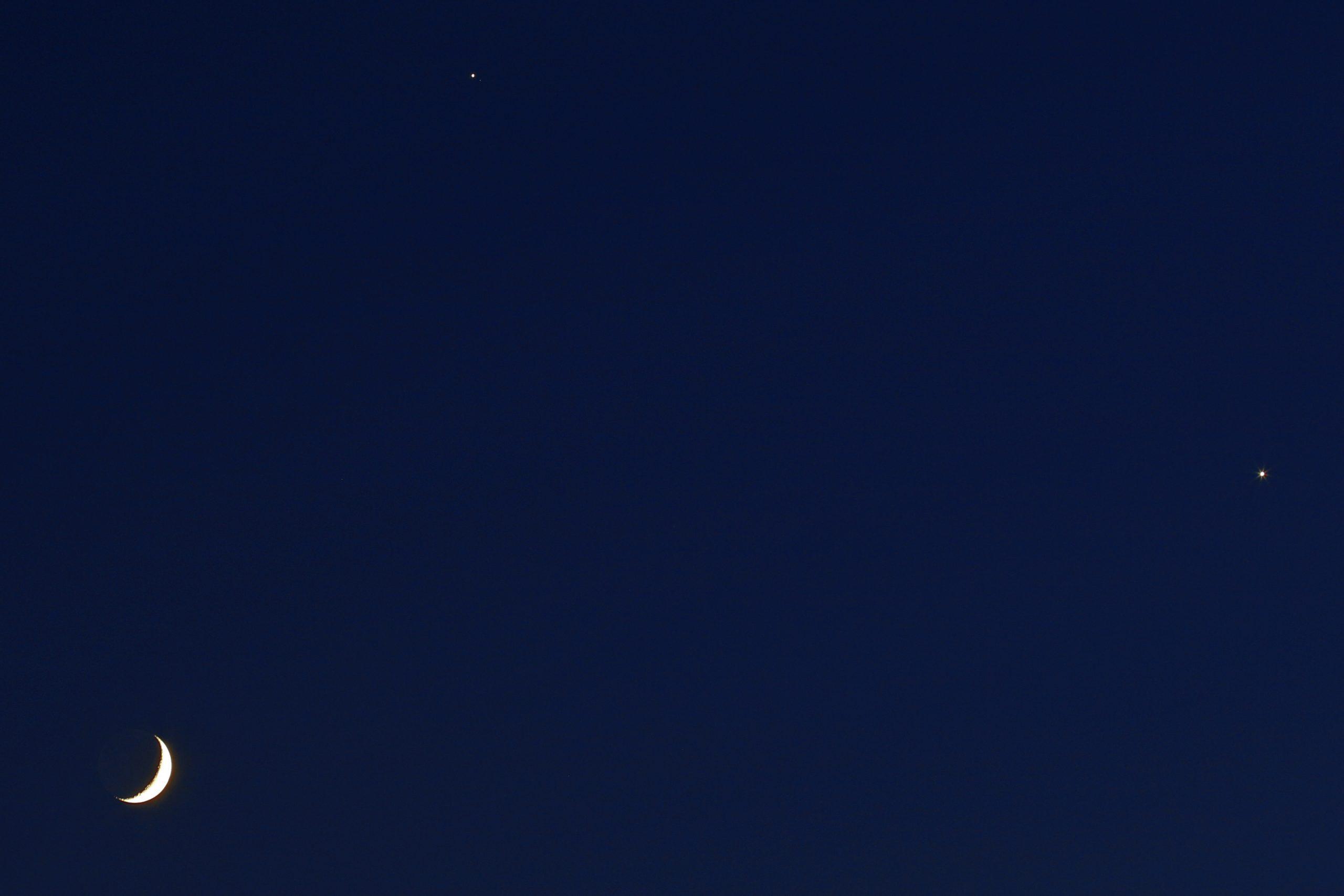 Conjunción Luna, Júpiter y Venus_crop